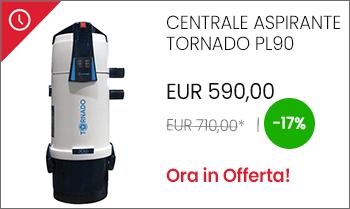 Aspirapolvere centralizzato Tornado PL90 economico in offerta Aspirastore
