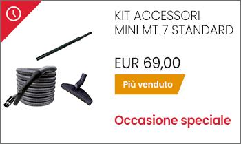 Kit accessori pulizia aspirapolvere centralizzato mt 7 offerta