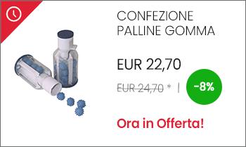 Confezione palline gomma manutenzione impianto aspirazione centralizzato offerta