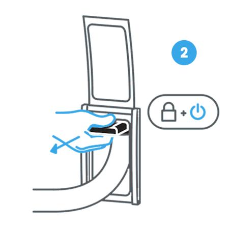 2. Estrai la maniglia della bocchetta Retraflex