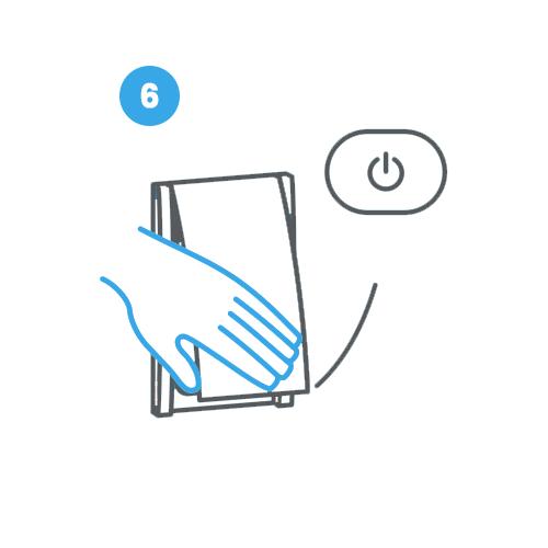 6. Chiudi lo sportellino della bocchetta Retraflex