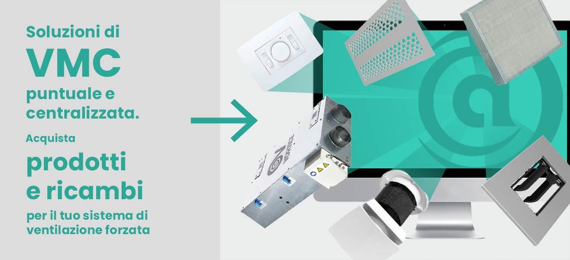 Su Aspirastore.com acquisti i componenti per sistema di ventilazione vmc puntuale e centralizzata