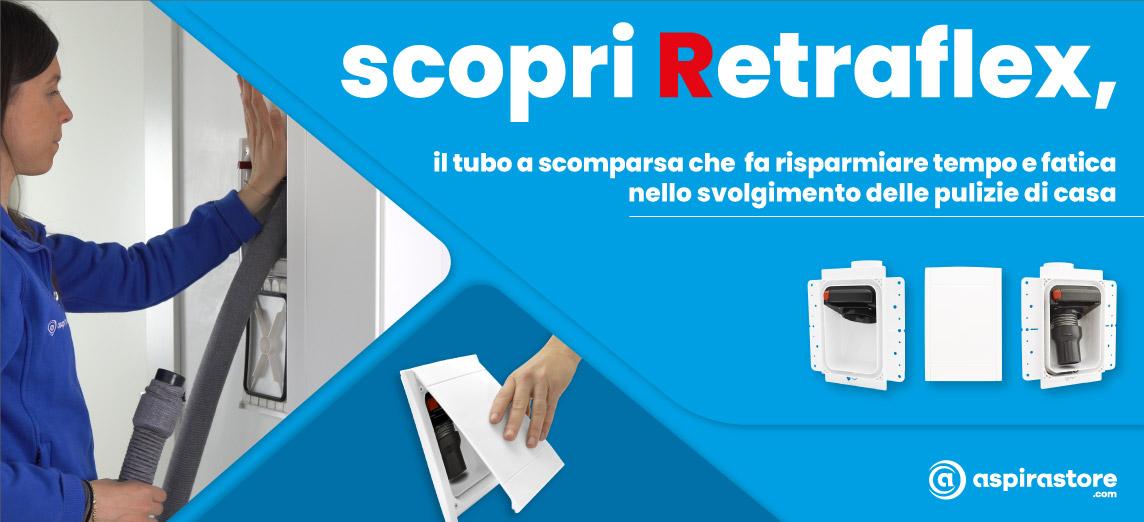 Aspirastore.com materiale predisposizione impianto aspirapolvere casa Retraflex