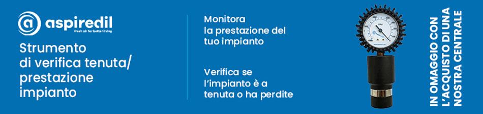 Vuotometro in omaggio con acquisto centrale aspirante su Aspirastore.com