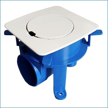 Profilo scatola per pavimento flottante e presa aspirante GO Floor bianca