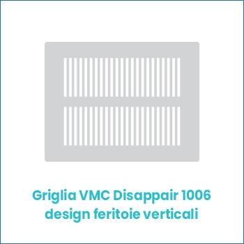Griglia vmc di design in lamiera Disappair 1006 feritoie verticali