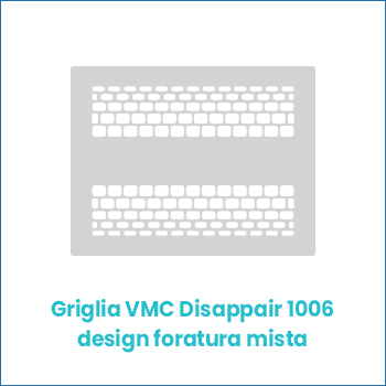 Griglia vmc di design in lamiera Disappair 1006 foratura mista