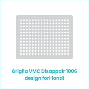 Griglia vmc di design in lamiera Disappair 1006 fori tondi