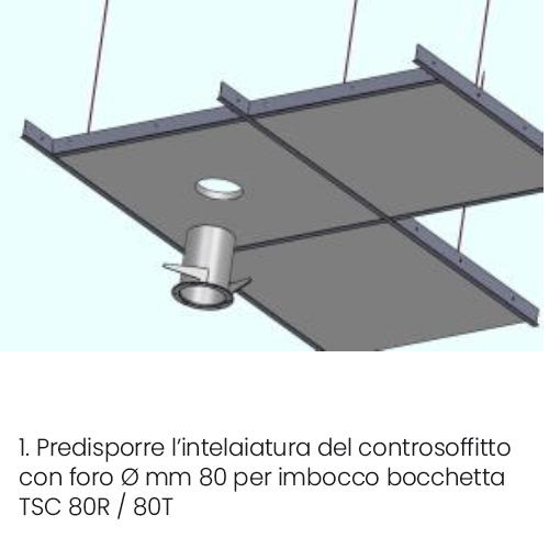 Installazione bocchetta vmc VENT tonda a controsoffitto parte 1