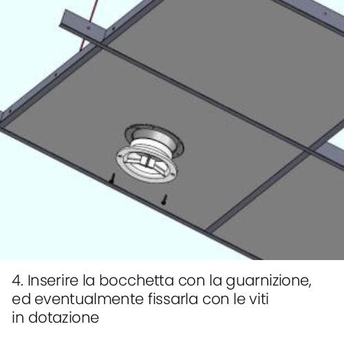 Installazione bocchetta vmc VENT tonda a controsoffitto parte 4