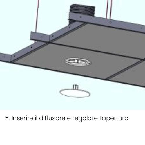 Installazione bocchetta vmc VENT tonda a controsoffitto parte 5