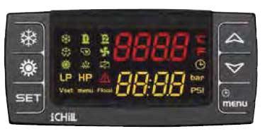 Pannello integrato display LCD recuperatore VORT HRI DH
