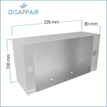 Dimensioni scatola ventilazione vmc 1509 Disappair