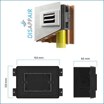 Dimensioni scatola vmc Disappair 503-1006